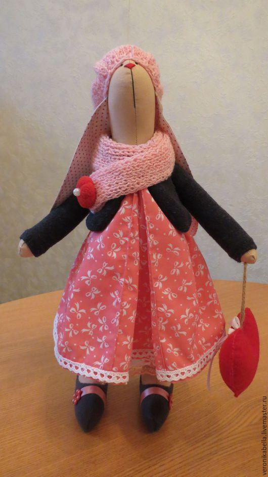 Куклы Тильды ручной работы. Ярмарка Мастеров - ручная работа. Купить Зайка Тильда в розовом. Handmade. Хлопок 100%