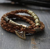 Украшения handmade. Livemaster - original item Bracelet with Axe and Scandinavian runes. Handmade.
