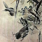 Картины и панно handmade. Livemaster - original item Autumn. Duck.. Handmade.