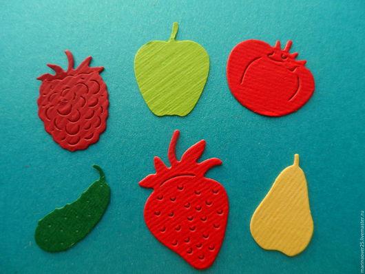 Открытки и скрапбукинг ручной работы. Ярмарка Мастеров - ручная работа. Купить Вырубка Овощи-фрукты-ягоды. Handmade. Фрукты, овощи