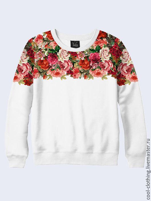 """Кофты и свитера ручной работы. Ярмарка Мастеров - ручная работа. Купить Женская кофта """"Розы"""" в винтажном стиле. Handmade. Белый"""