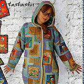 """Одежда ручной работы. Ярмарка Мастеров - ручная работа Вязаная куртка """"Теплые коты"""".. Handmade."""
