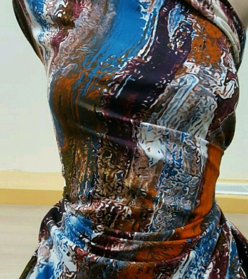 Ткань штапель принт 3D , арт. ФА 03, Ткани, Москва,  Фото №1