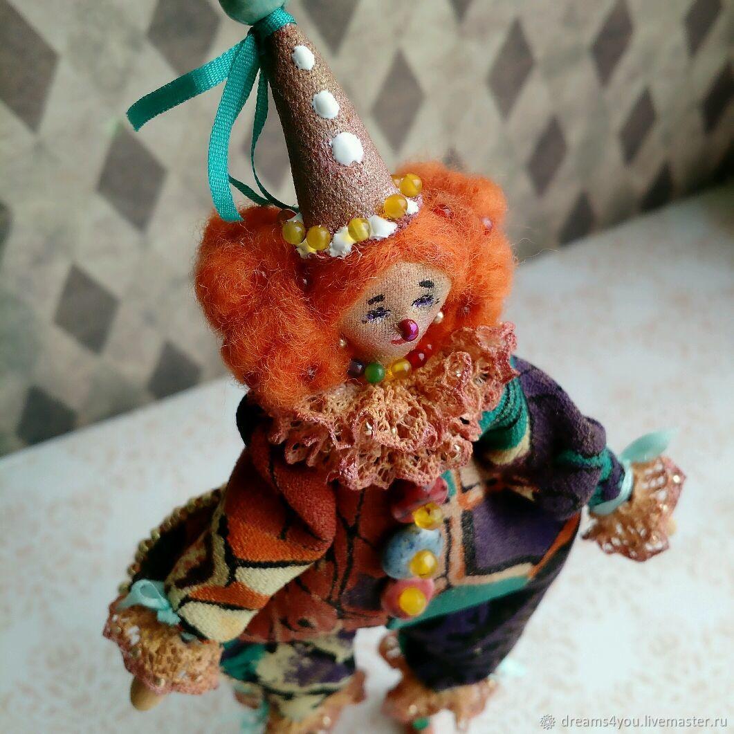 Клоунесса, клоун, серия Шапито. Коллекционная текстильная кукла, Куклы и пупсы, Апшеронск,  Фото №1
