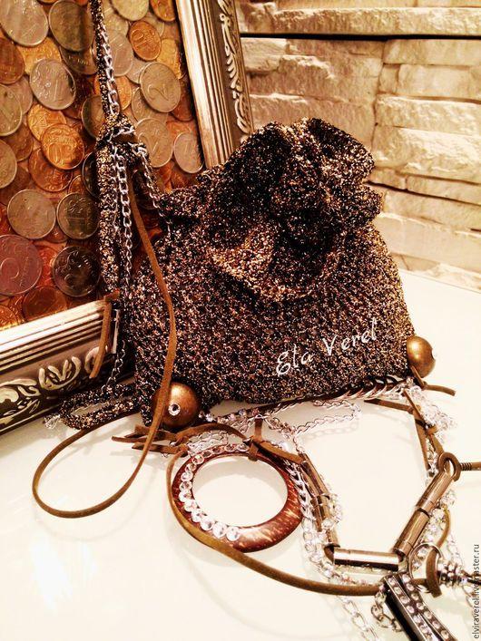 Женские сумки ручной работы. Ярмарка Мастеров - ручная работа. Купить Вязаная сумка ''МАЛЮТКА Бохо - Шик ''. Handmade.
