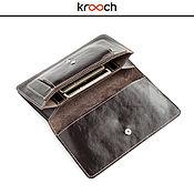 Сумки и аксессуары handmade. Livemaster - original item Leather wallet KLATCHER. Handmade.