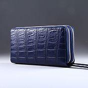Сумки и аксессуары handmade. Livemaster - original item Crocodile leather clutch with two zippers IMA0001VC4. Handmade.