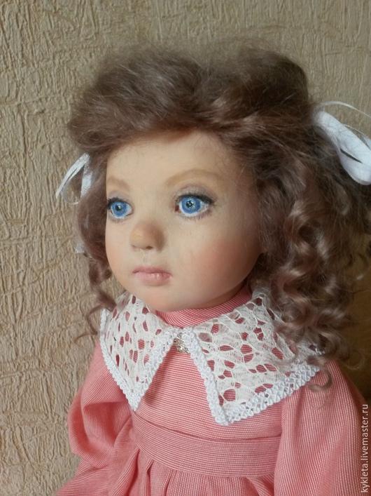 Коллекционные куклы ручной работы. Ярмарка Мастеров - ручная работа. Купить Кукла из пластика Лизонька. Handmade. Коралловый, смешанная техника