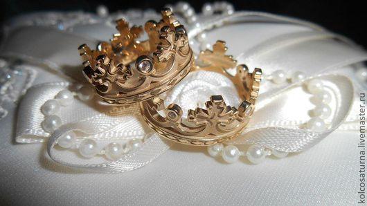"""Кольца ручной работы. Ярмарка Мастеров - ручная работа. Купить Обручальные кольца """"Короны"""". Handmade. Обручальные кольца, кольцо"""