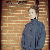 Одежда ручной работы. Ярмарка Мастеров - ручная работа Пальто лён с шерстью.  ЧУДЬ. Handmade.