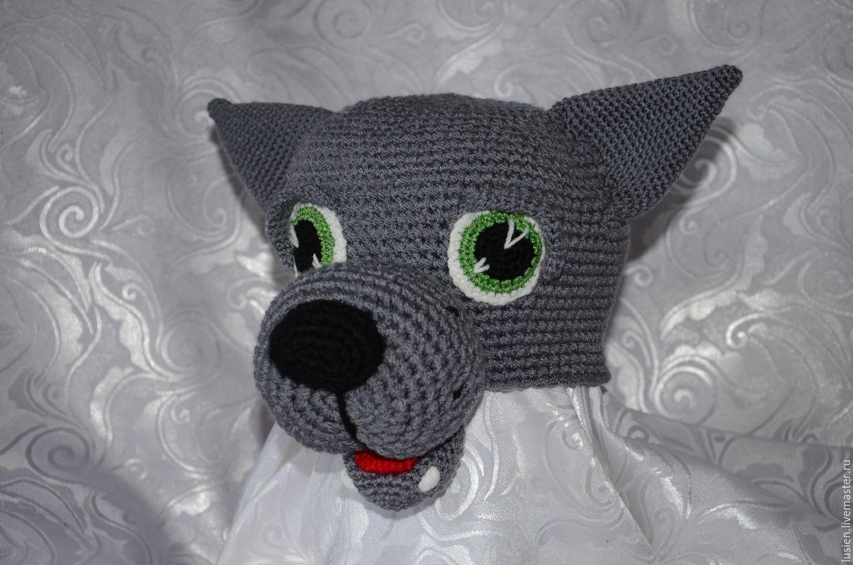 Купить Серый Волк - темно-серый, волк, серый волк, шапка волка, шапка Волк
