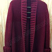Одежда handmade. Livemaster - original item Cardigan color Burgundy. Handmade.