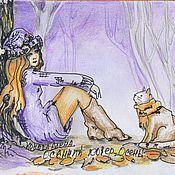 Картины и панно ручной работы. Ярмарка Мастеров - ручная работа Графика. Осень- пестрый ковер под ногами.. Handmade.