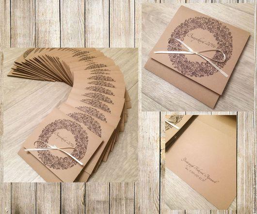 Подарочная упаковка ручной работы. Ярмарка Мастеров - ручная работа. Купить конверт для диска. Handmade. Кардсток, для фотографов, упаковка для диска