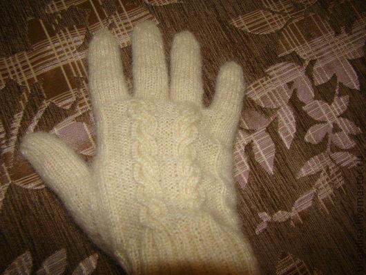 Варежки, митенки, перчатки ручной работы. Ярмарка Мастеров - ручная работа. Купить Вязаные перчатки. Handmade. Женские перчатки, полушерсть