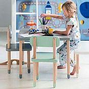 Столы ручной работы. Ярмарка Мастеров - ручная работа Детский комплект Izziwood - 4 (стол+2 стула). Handmade.