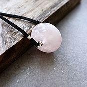 handmade. Livemaster - original item Large Rose Quartz Planet Necklace. Handmade.