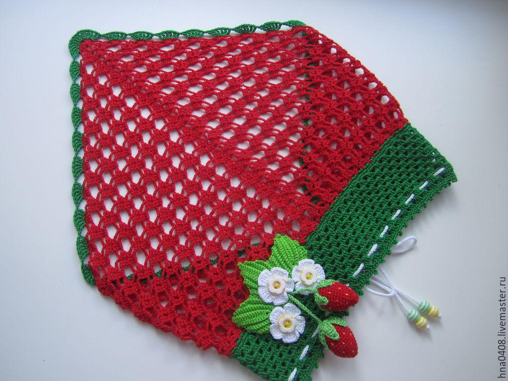 шапка-косынка для девочек схема