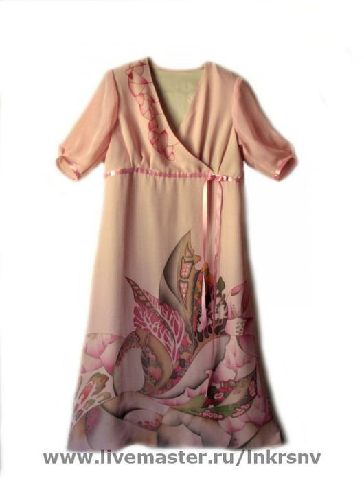 """Платья ручной работы. Ярмарка Мастеров - ручная работа. Купить Платье """"Метаморфозы природы"""". Handmade. Платье нарядное, розовый, Батик"""