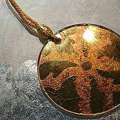 handmade. Livemaster - original item Christmas toy Christmas tree decoration pattern gilding on glass. Handmade.