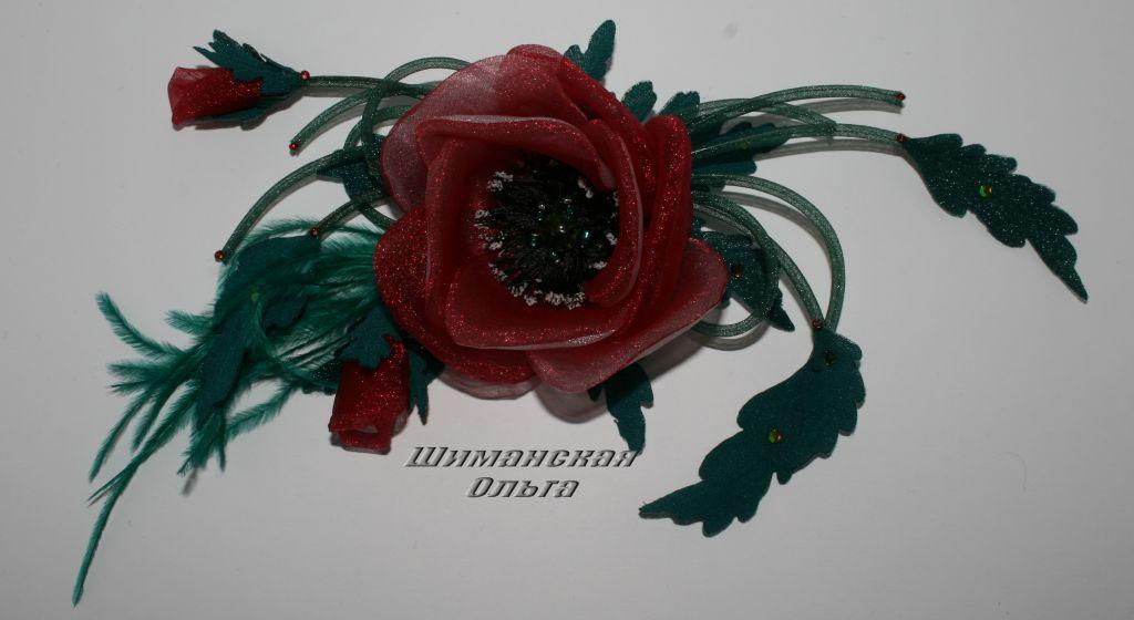 Ярмарка мастеров цветы из ткани мастер класс + видео #11