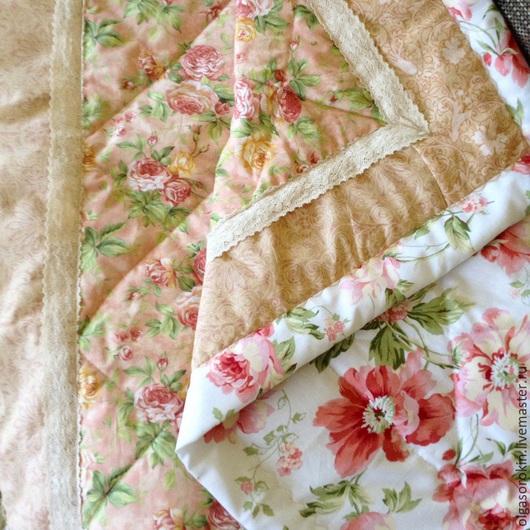 Для новорожденных, ручной работы. Ярмарка Мастеров - ручная работа. Купить Одеяло- конверт в шебби стиле. Handmade. Кремовый, кроватка