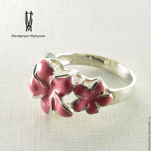 """Кольца ручной работы. Ярмарка Мастеров - ручная работа. Купить Перстень """"Розовый цветок"""". Handmade. Серебряный, подарок девушке"""