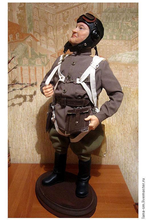 """Портретные куклы ручной работы. Ярмарка Мастеров - ручная работа. Купить Авторская портретная кукла из запекаемого пластика . """"Лётчик."""". Handmade."""