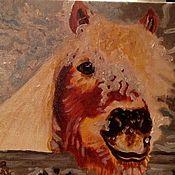 """Картины и панно ручной работы. Ярмарка Мастеров - ручная работа Картина маслом """"Пони Бублик"""". Handmade."""