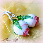 Украшения handmade. Livemaster - original item Lampwork earrings