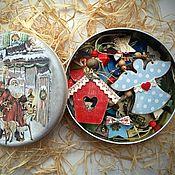 Подарки к праздникам ручной работы. Ярмарка Мастеров - ручная работа Винтажные елочные украшения 20 шт в коробке. Handmade.