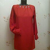 Одежда ручной работы. Ярмарка Мастеров - ручная работа Красное платье со стразами. Handmade.