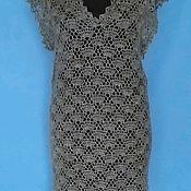 Одежда handmade. Livemaster - original item 235 tunic down gray vest women`s clothing knitted. Handmade.