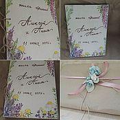 """Свадебный салон ручной работы. Ярмарка Мастеров - ручная работа Книга для пожеланий """" Альпийские травы"""". Handmade."""