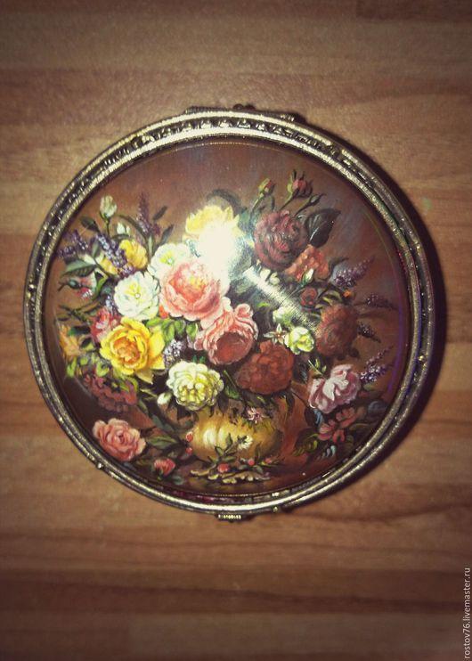 """Шкатулки ручной работы. Ярмарка Мастеров - ручная работа. Купить шкатулка """" Розы"""". Handmade. Разноцветный, шкатулка для украшений"""