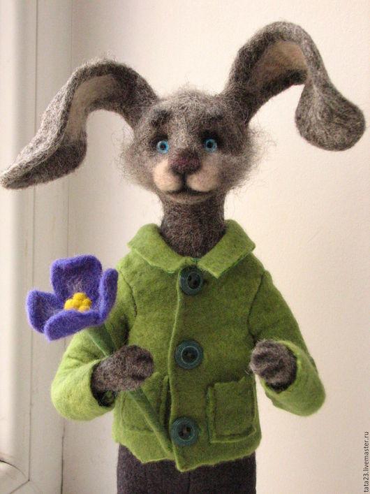 Игрушки животные, ручной работы. Ярмарка Мастеров - ручная работа. Купить Мартовский заяц.Игрушка из шерсти.. Handmade. Заяц