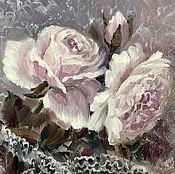 """Картины и панно ручной работы. Ярмарка Мастеров - ручная работа Картина маслом""""Винтажные розы"""". Handmade."""