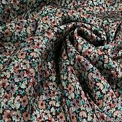 Материалы для творчества handmade. Livemaster - original item Fabric: Natural silk with floral print Blumarin. Handmade.