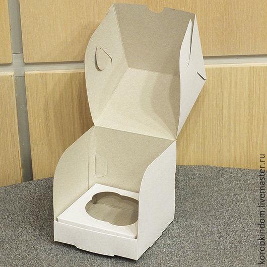 Упаковка ручной работы. Ярмарка Мастеров - ручная работа. Купить Коробочка 10х10х10 см белая. Handmade. Коробочка, коробка подарочная