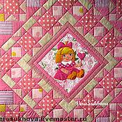 Для дома и интерьера handmade. Livemaster - original item Pink quilt for baby girls