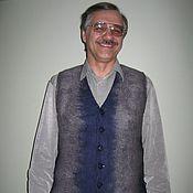 Одежда ручной работы. Ярмарка Мастеров - ручная работа Жилет мужской валяный. Handmade.