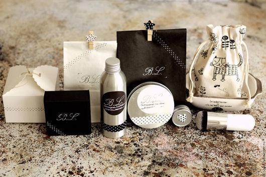 Подарочные наборы косметики ручной работы. Ярмарка Мастеров - ручная работа. Купить Упаковка для мыла и косметики Горох. Handmade.