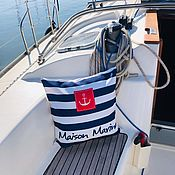 """Подушки ручной работы. Ярмарка Мастеров - ручная работа Подушка декоративная """"Maison Marine"""" 49х49см. Handmade."""