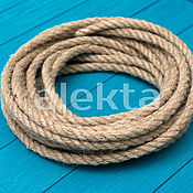 Дизайн и реклама ручной работы. Ярмарка Мастеров - ручная работа Джутовая веревка 12 мм, 10 метров, ДФ-02. Handmade.