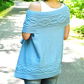 """handmade. Livemaster - original item Shawl-vest """"Blue topaz"""". Handmade."""