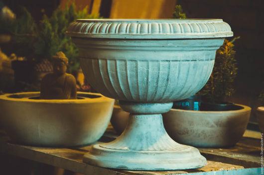 Экстерьер и дача ручной работы. Ярмарка Мастеров - ручная работа. Купить Вазон садовый для цветов из бетона коричневый, серый. Handmade.