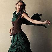 """Одежда ручной работы. Ярмарка Мастеров - ручная работа Сэт из 3-х вещей """"Бабочка"""" коричнево-зелёный. Handmade."""
