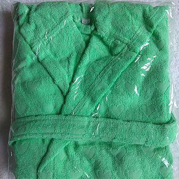 Одежда ручной работы. Ярмарка Мастеров - ручная работа Халатик на 12-13 лет Велюр-махра. Handmade.