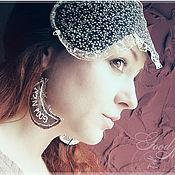 Украшения ручной работы. Ярмарка Мастеров - ручная работа Good Night! текстильные серьги. Handmade.