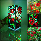 Для дома и интерьера handmade. Livemaster - original item Table bright decorative lamp Red berry. Handmade.